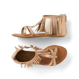 Gap Gold Fringe sandals girls size 4